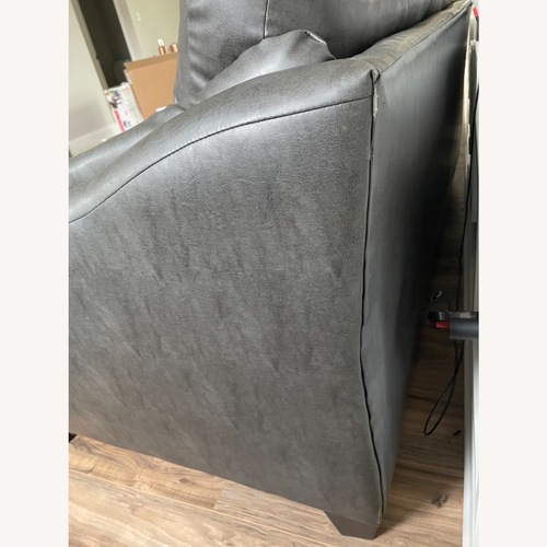 Used Home Goods Dark Gray Loveseat for sale on AptDeco