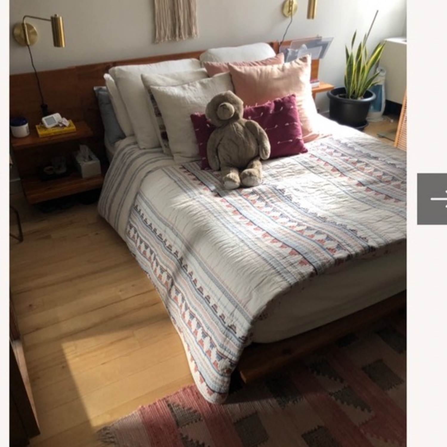 CB2 Andes Acacia Full Bed Frame - image-1