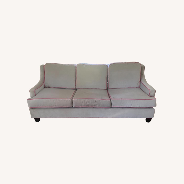 Society Social Dove Grey Velvet Sofa - image-0