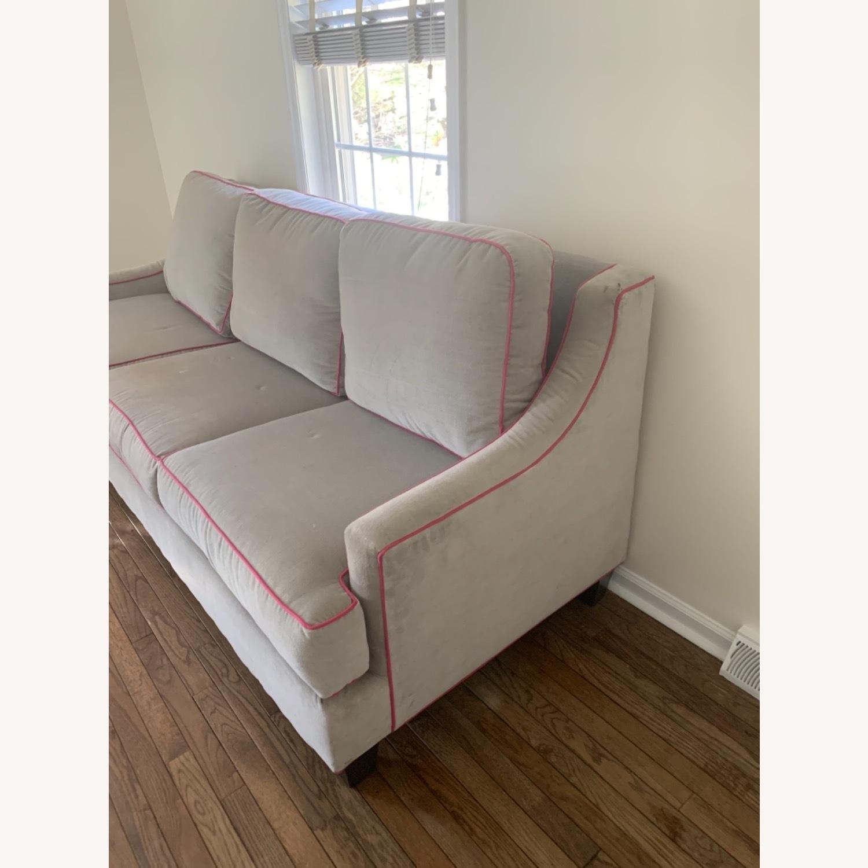 Society Social Dove Grey Velvet Sofa - image-2
