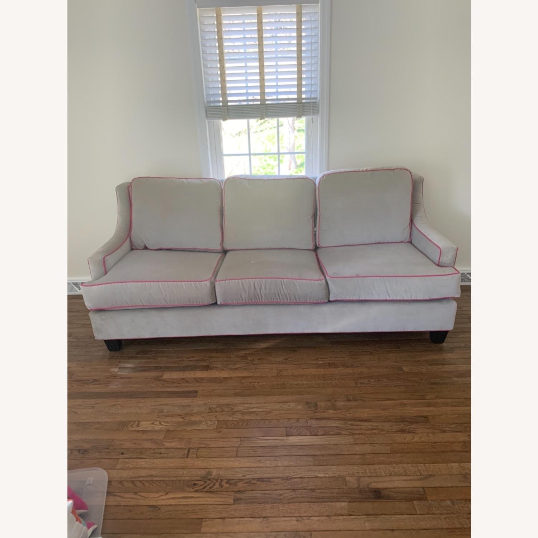 Society Social Dove Grey Velvet Sofa - image-1