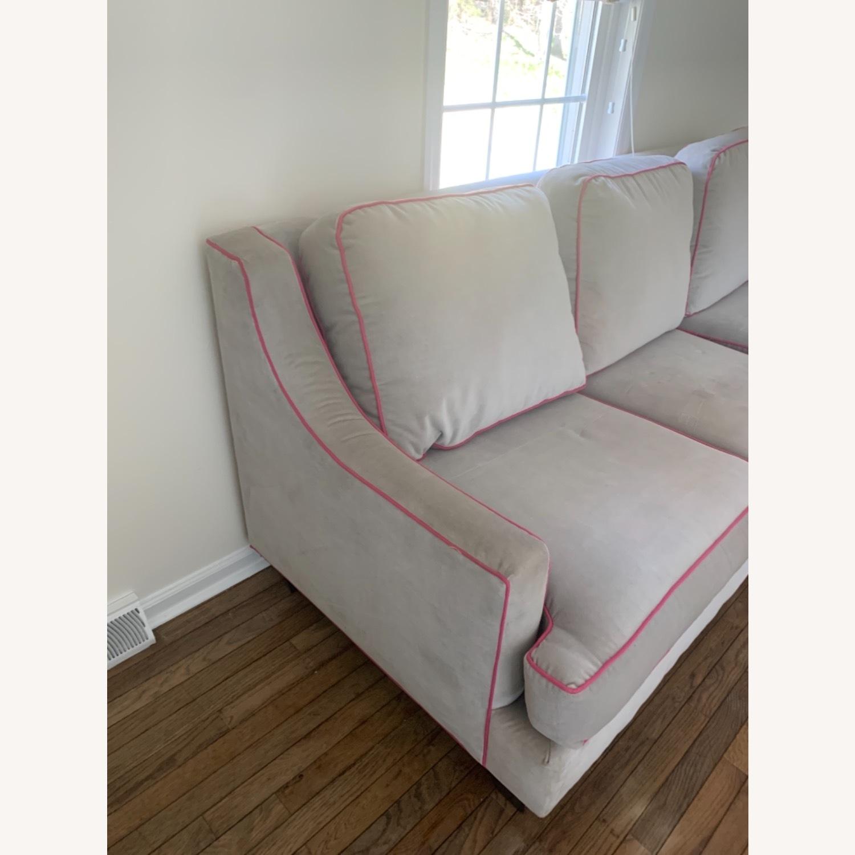 Society Social Dove Grey Velvet Sofa - image-3