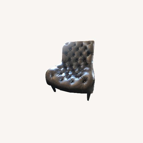 Used Arhus Camden Leather Chesterfield Chair for sale on AptDeco