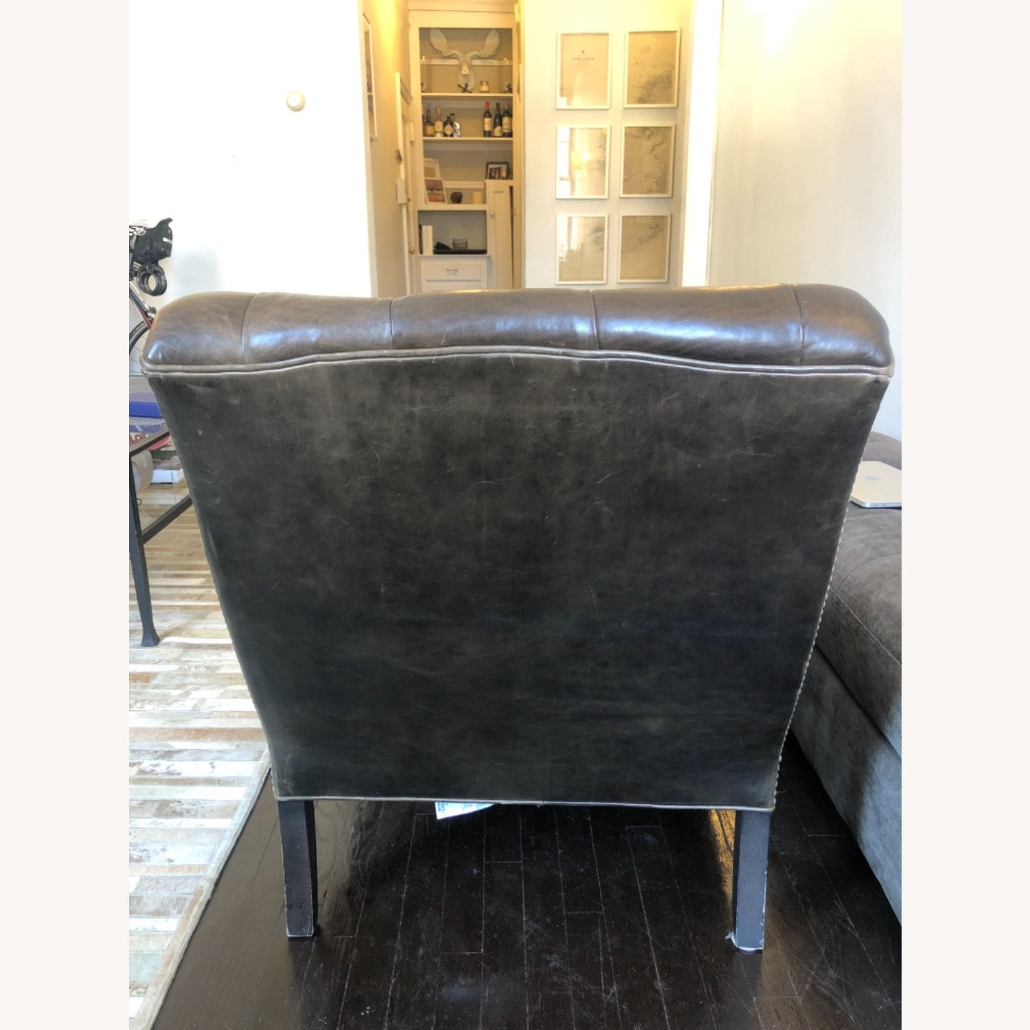Arhus Camden Leather Chesterfield Chair - image-5