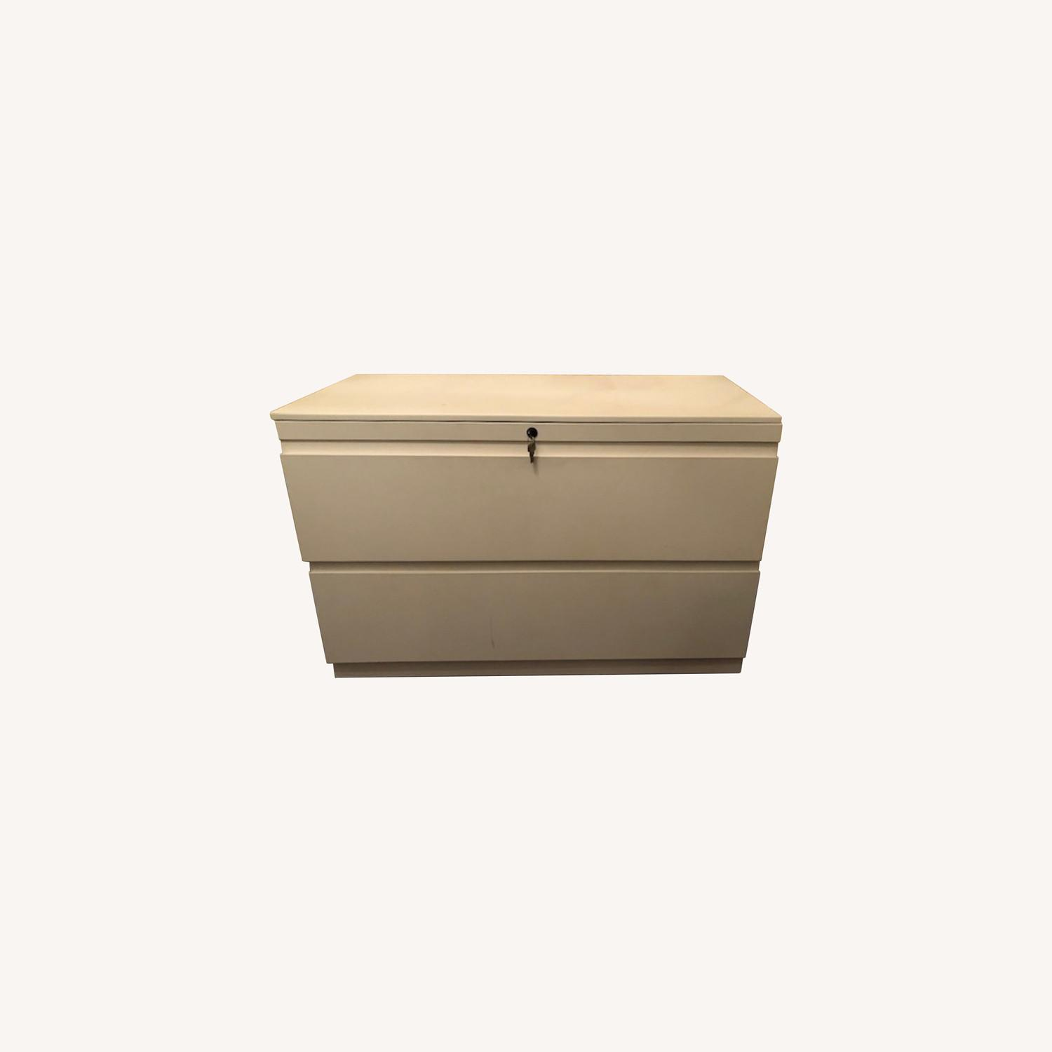 Container Store White Cabinet - image-0