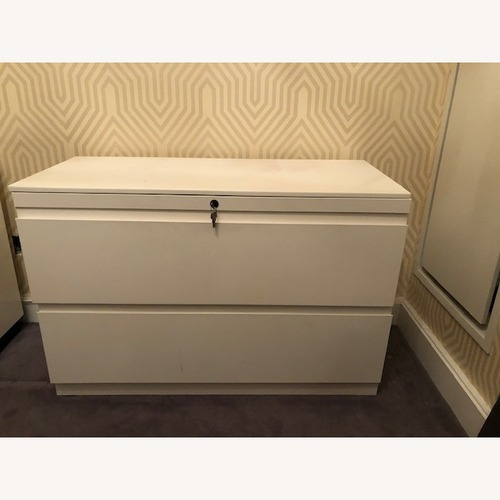 Used Container Store White Cabinet for sale on AptDeco