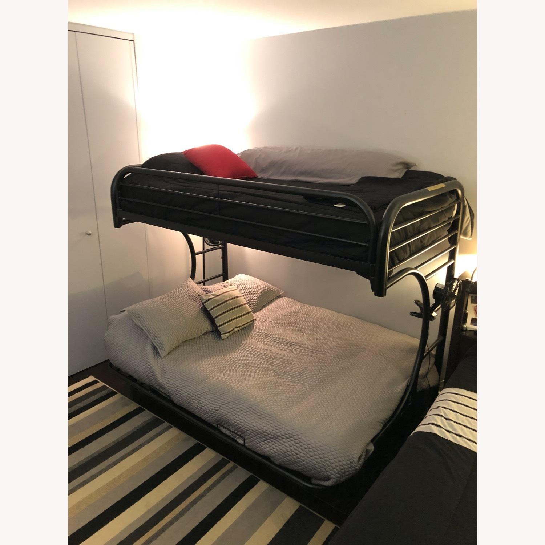 Black Metal Futon Bunk Bed - image-6