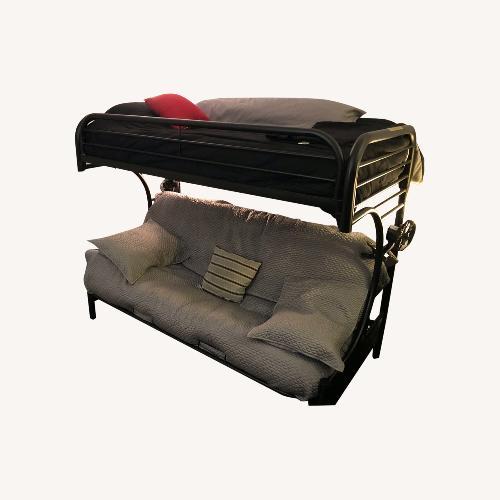 Used Black Metal Futon Bunk Bed for sale on AptDeco