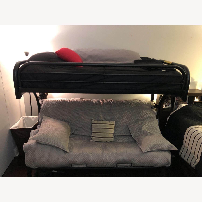 Black Metal Futon Bunk Bed - image-2