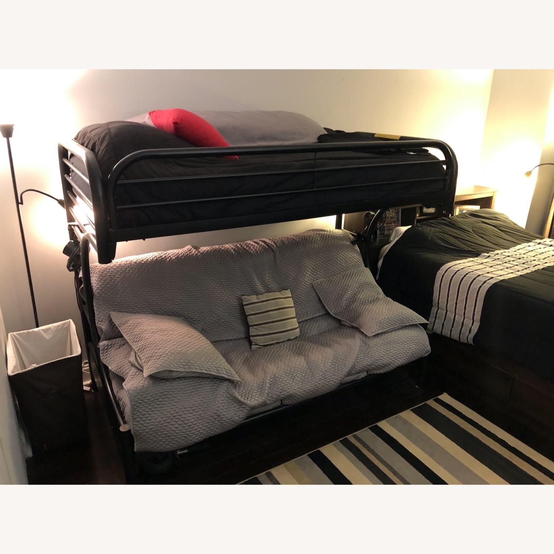 Black Metal Futon Bunk Bed - image-5