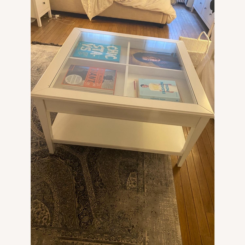 IKEA Glass Top Coffee Table - image-3