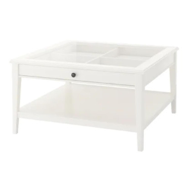 IKEA Glass Top Coffee Table - image-8