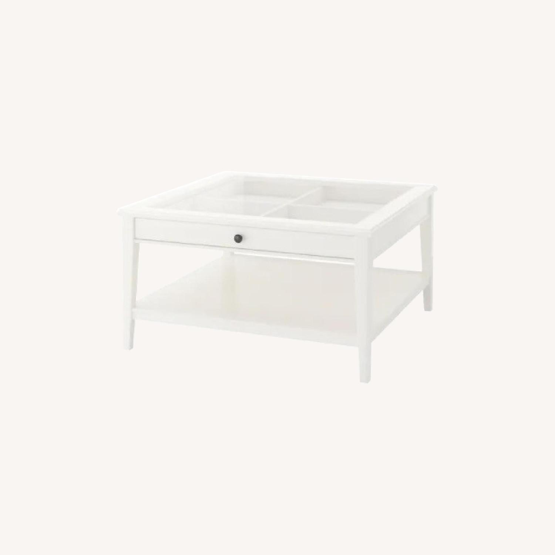 IKEA Glass Top Coffee Table - image-0