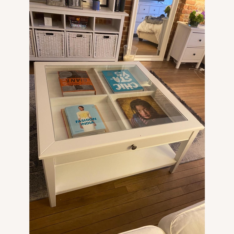 IKEA Glass Top Coffee Table - image-5
