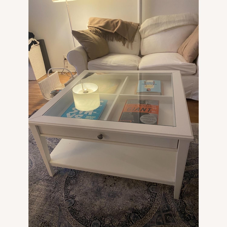IKEA Glass Top Coffee Table - image-2