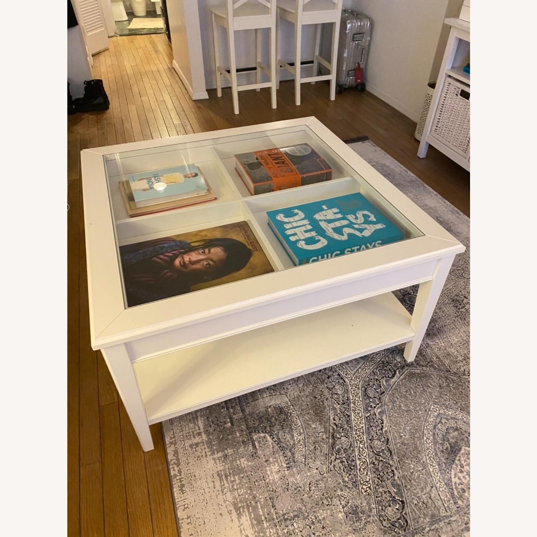 IKEA Glass Top Coffee Table - image-4