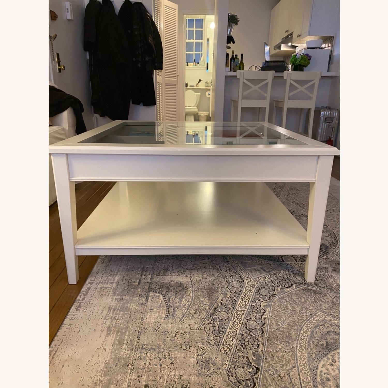 IKEA Glass Top Coffee Table - image-1