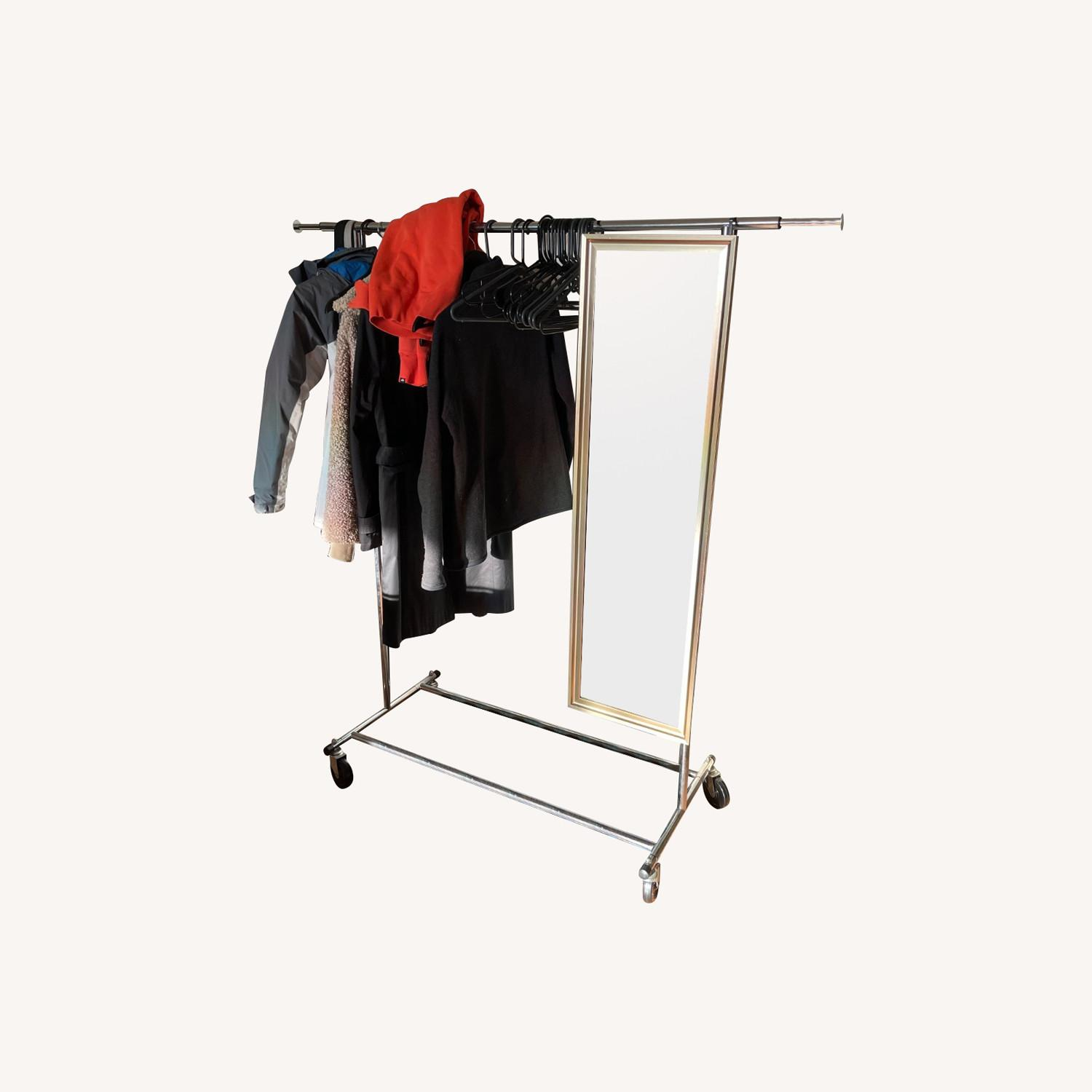 West Elm Rolling Garment Rack - image-0