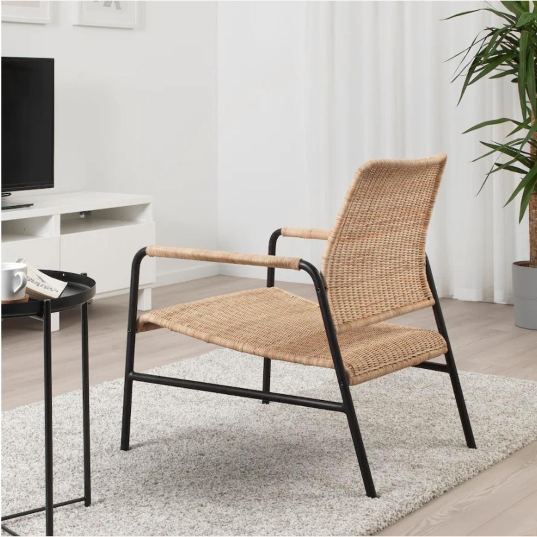 IKEA Set of 2  Rattan Armchairs - image-2
