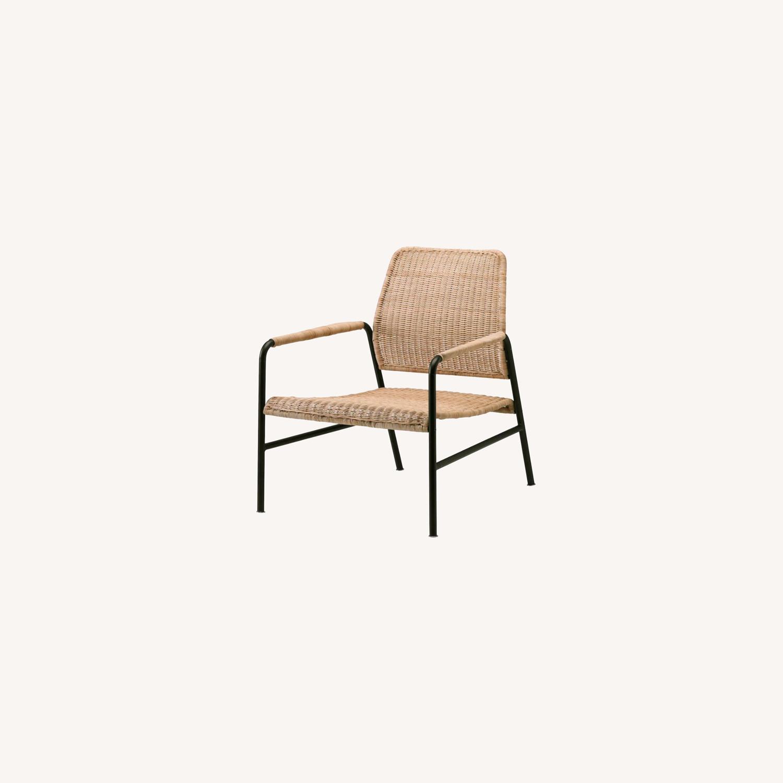 IKEA Set of 2  Rattan Armchairs - image-0