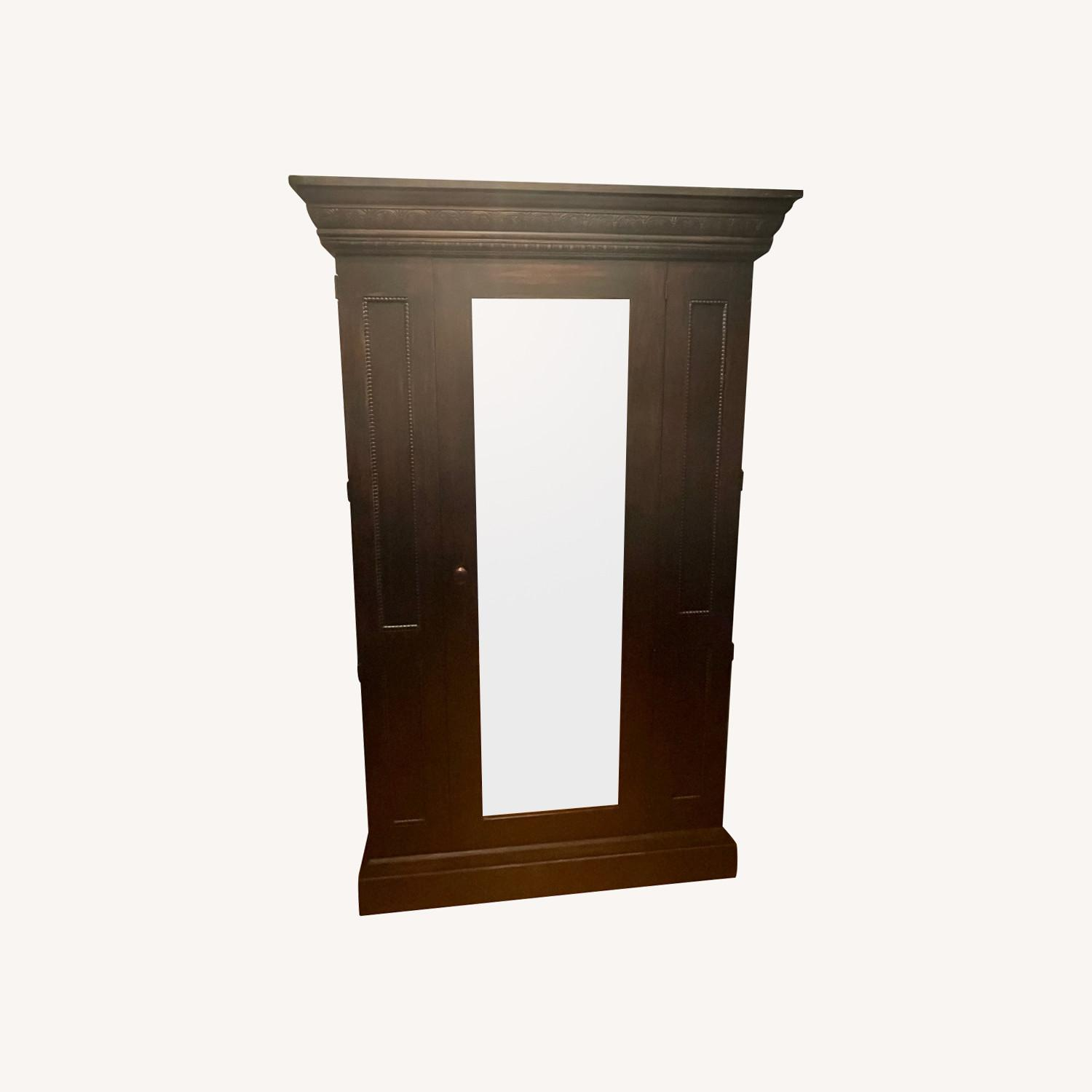 Domain Armoire with Mirror and Hanging Clothes Rod - image-0