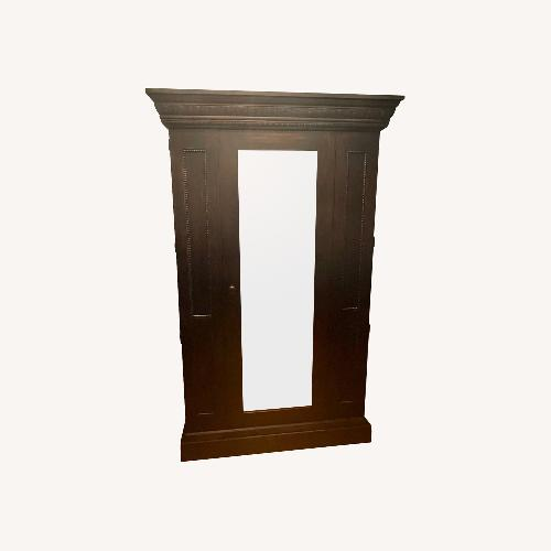 Used Domain Armoire with Mirror and Hanging Clothes Rod for sale on AptDeco