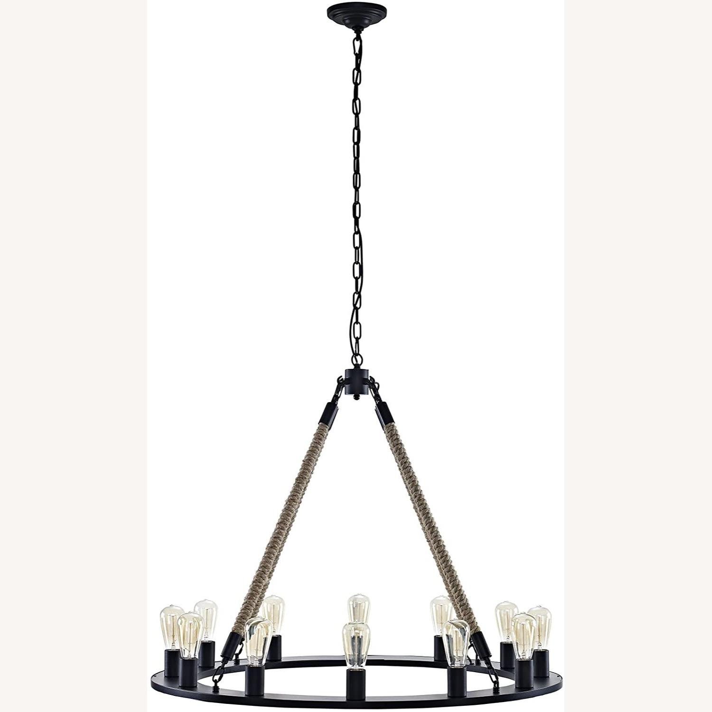 Chandelier In Brown W/ Adjustable Steel Chain - image-0