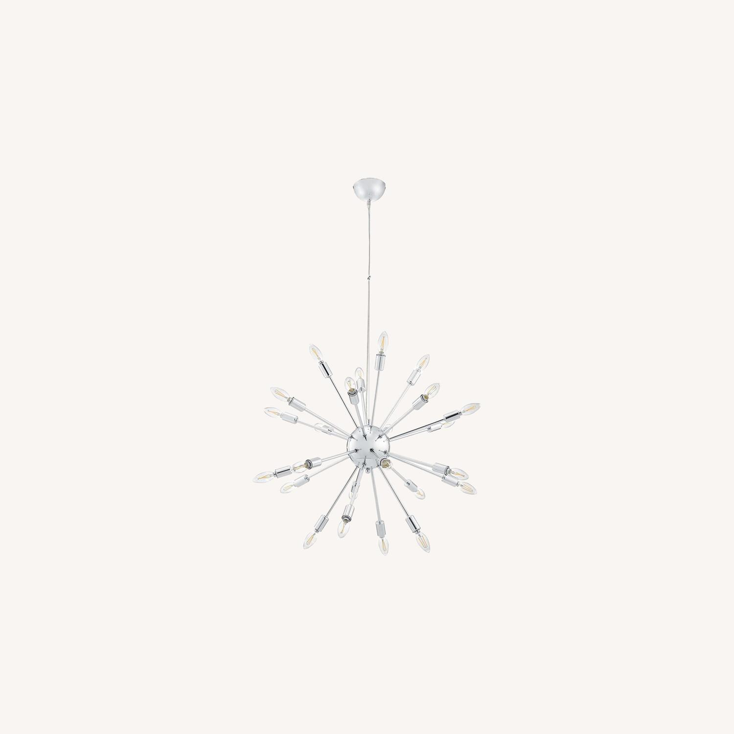 Modern Chandelier In Chrome-Plated Steel - image-5