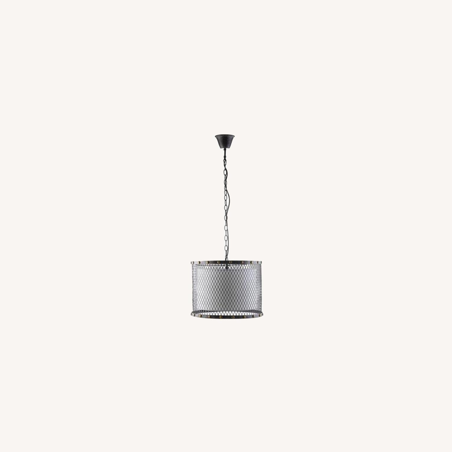 Modern Chandelier In Iron-Tinted Steel Finish - image-5