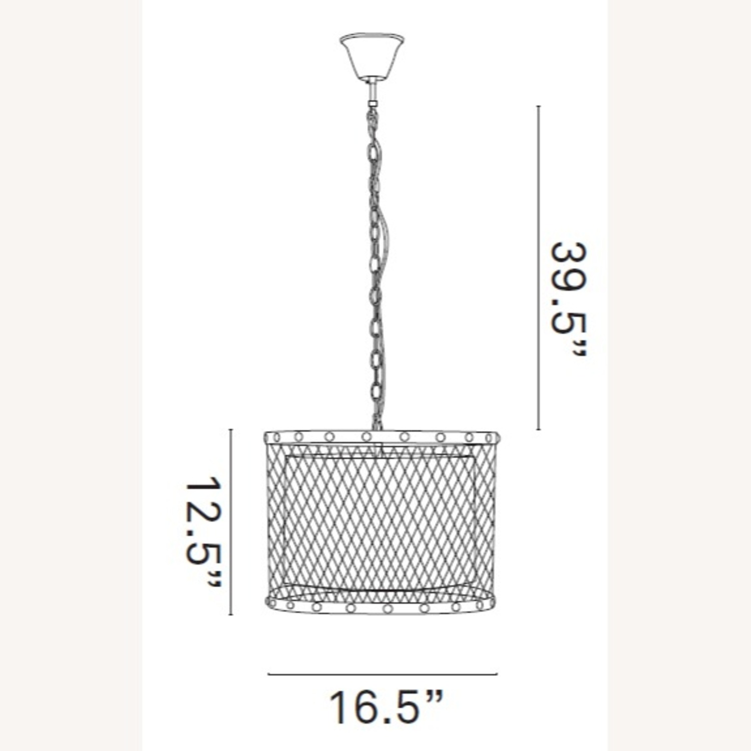 Modern Chandelier In Iron-Tinted Steel Finish - image-4