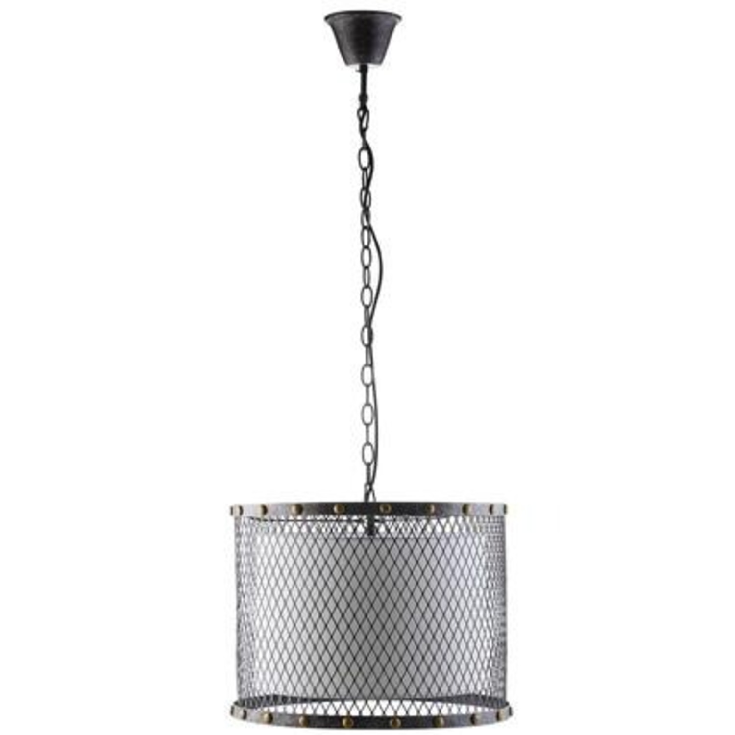 Modern Chandelier In Iron-Tinted Steel Finish - image-0