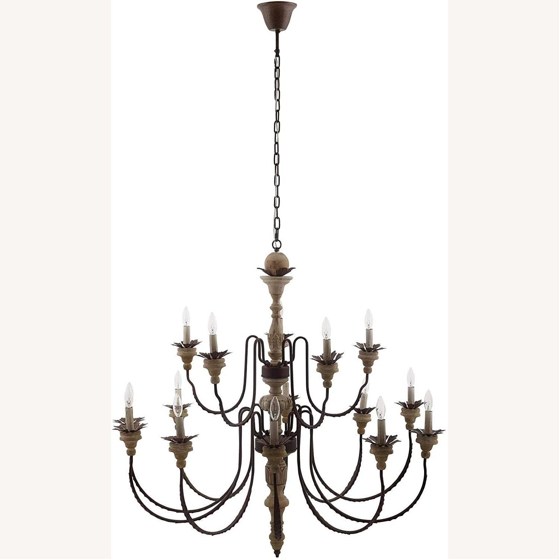 Modern Style Chandelier In Black Antique Finish - image-0