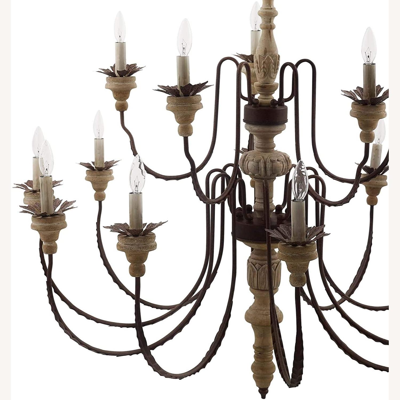 Modern Style Chandelier In Black Antique Finish - image-2