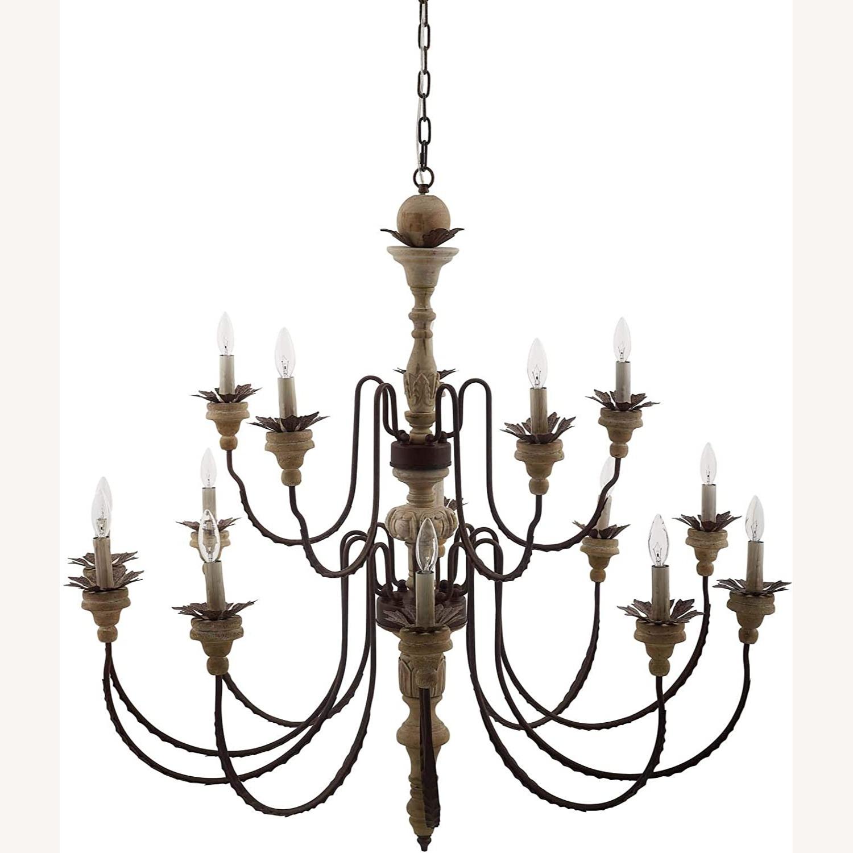 Modern Style Chandelier In Black Antique Finish - image-1