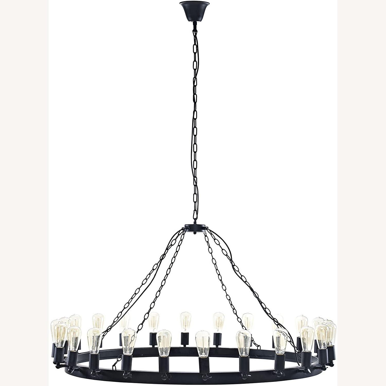 "52"" Chandelier In Brown W/ Adjustable Bulb Holders - image-0"