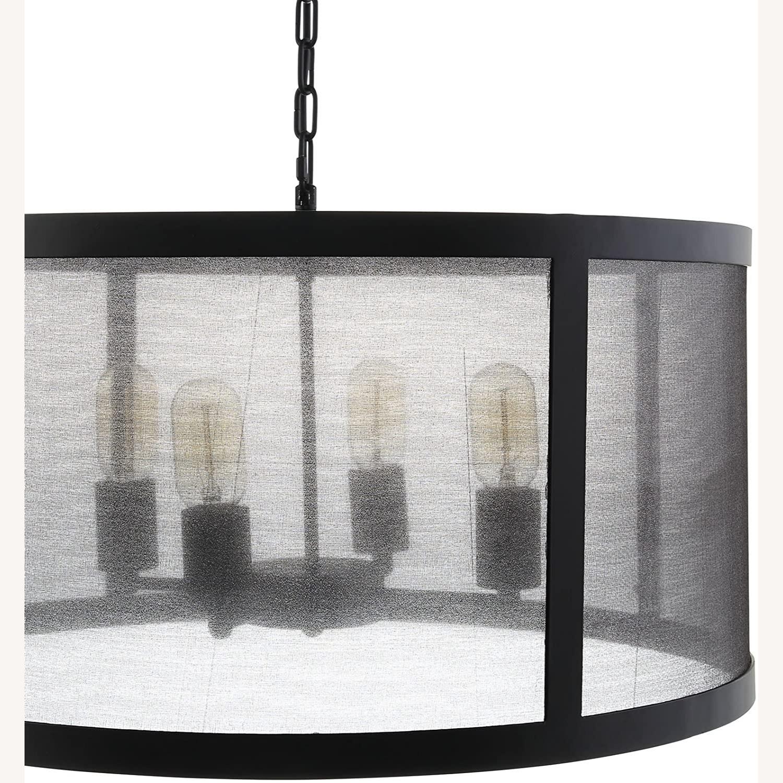 Modern Chandelier In Black W/ Plastic Cover - image-2