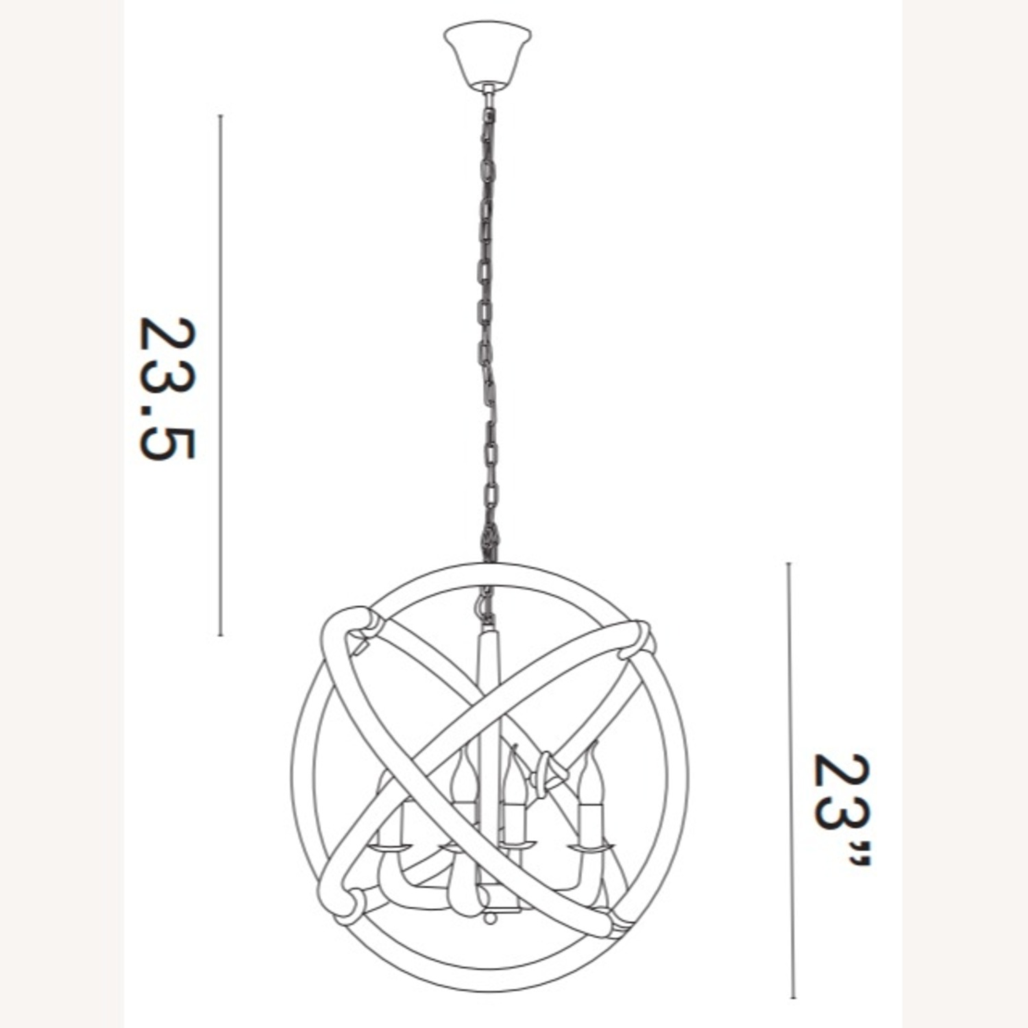 Modern Chandelier In Brown Rope Construction - image-4