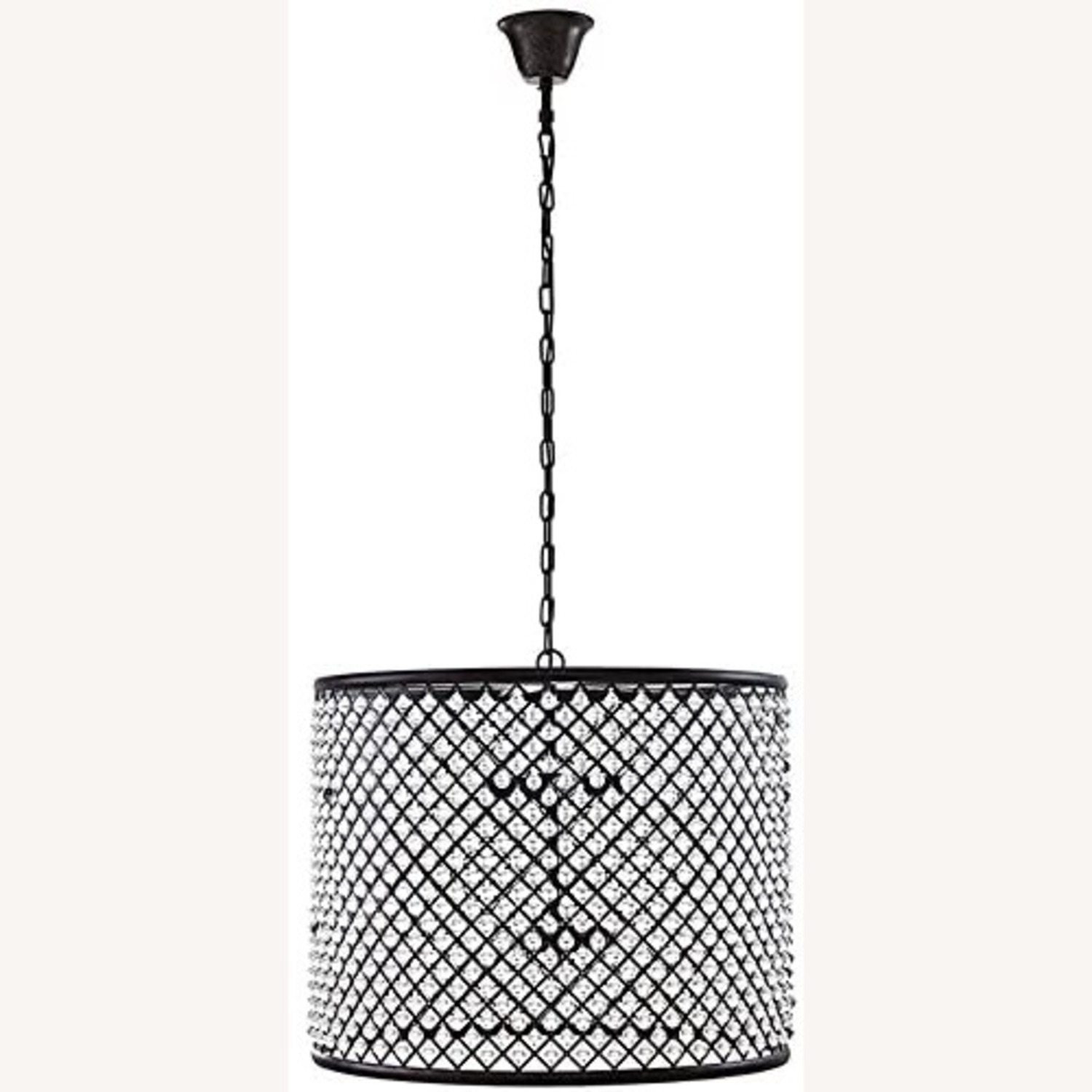 Modern Chandelier In Brown W/ Crystal Beads - image-0