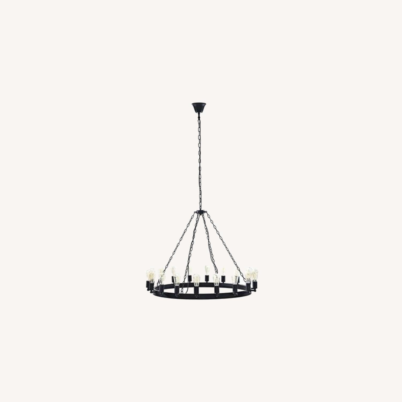 "43"" Chandelier In Brown W/ Adjustable Bulb Holders - image-3"