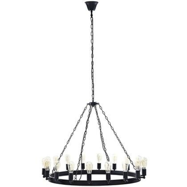 "43"" Chandelier In Brown W/ Adjustable Bulb Holders - image-1"