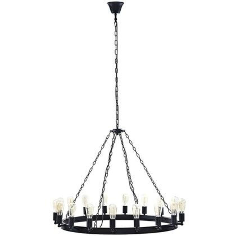 "43"" Chandelier In Brown W/ Adjustable Bulb Holders - image-0"