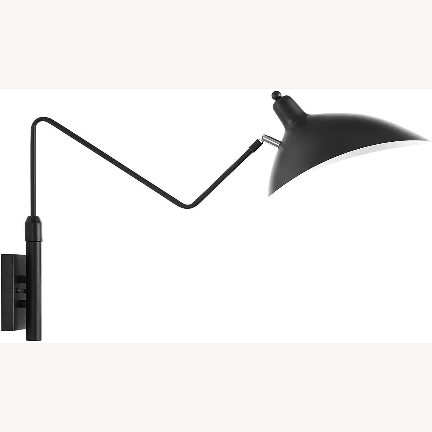 Wall Lamp In Black Shade Cups Finish - image-1