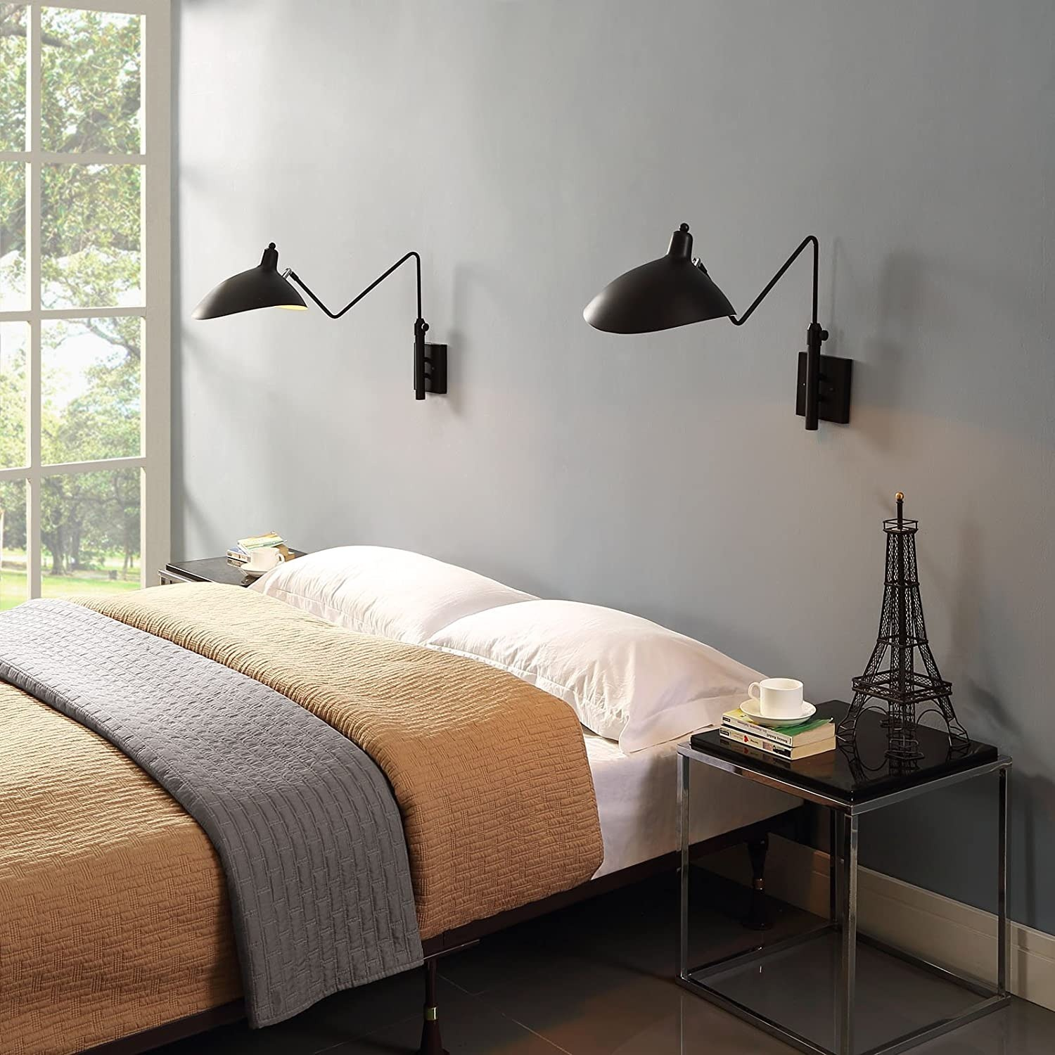 Wall Lamp In Black Shade Cups Finish - image-3