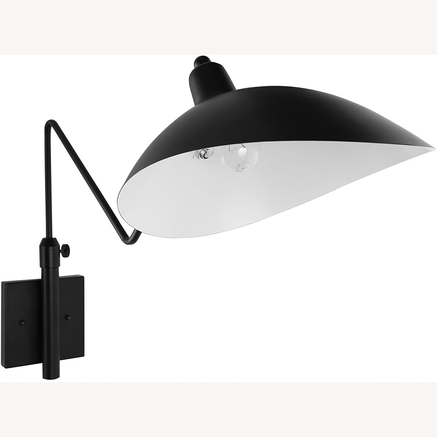 Wall Lamp In Black Shade Cups Finish - image-2