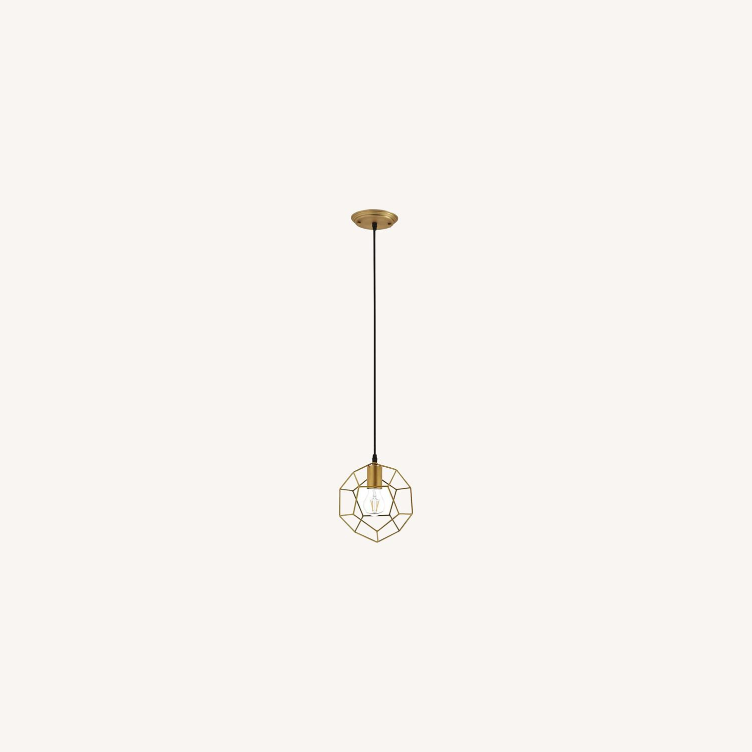 Contemporary Ceiling Lamp In Gold Metal Finish - image-5