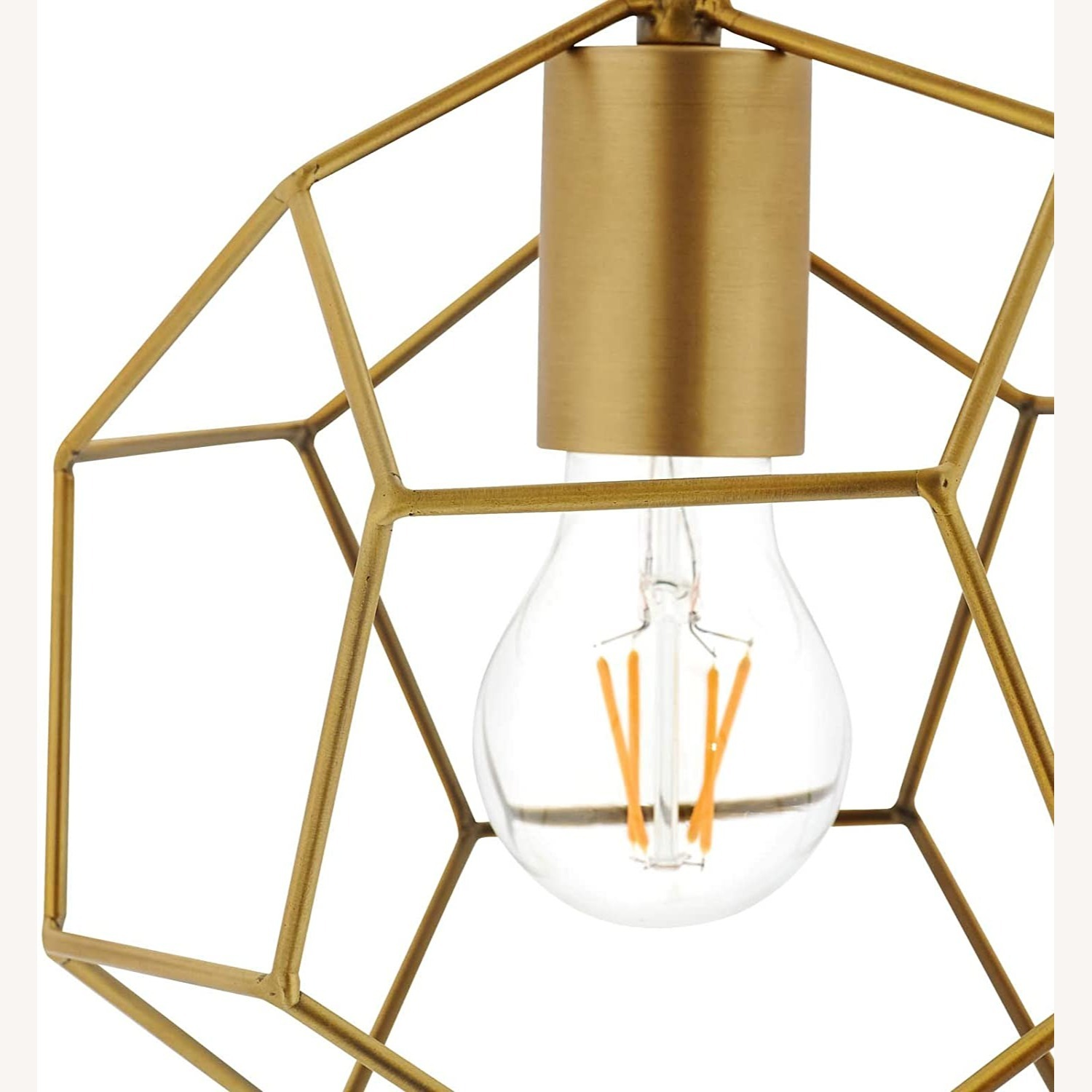 Contemporary Ceiling Lamp In Gold Metal Finish - image-2