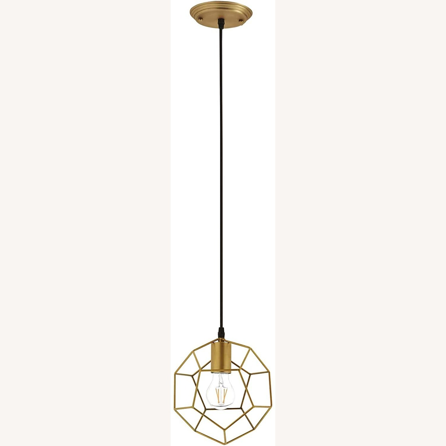 Contemporary Ceiling Lamp In Gold Metal Finish - image-0