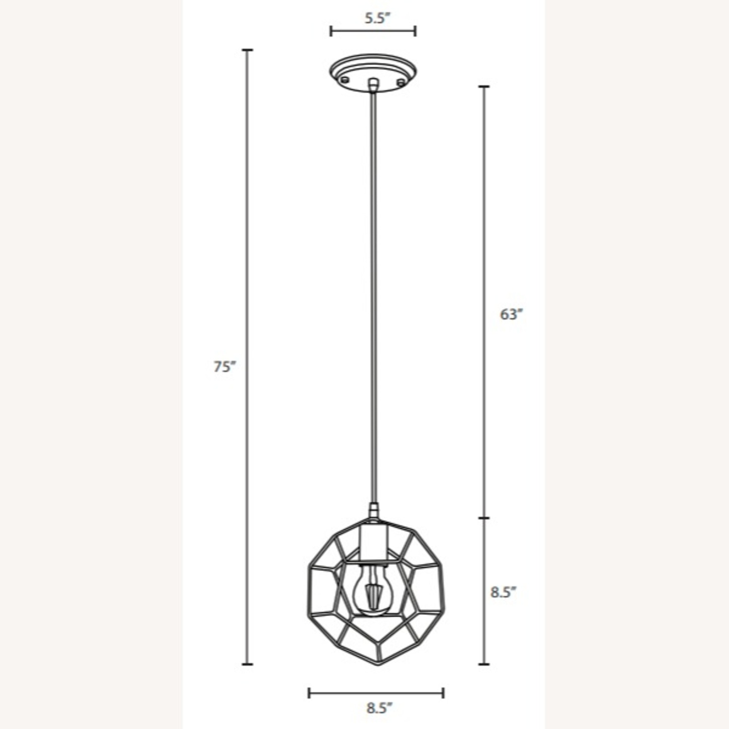 Contemporary Ceiling Lamp In Gold Metal Finish - image-4