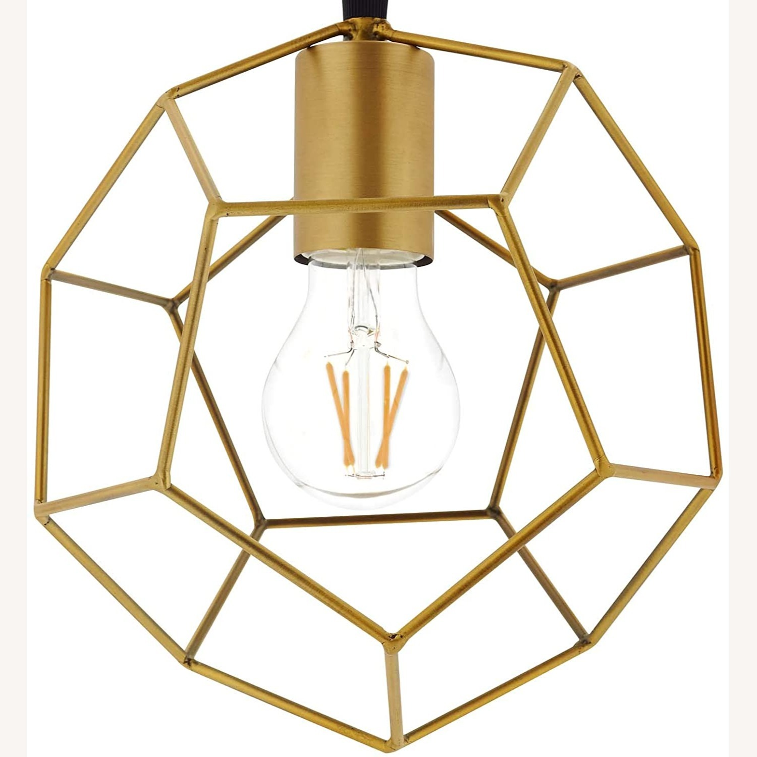 Contemporary Ceiling Lamp In Gold Metal Finish - image-1