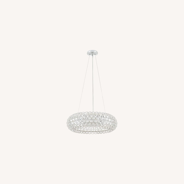 Modern Pendant Chandelier In White Glass Shade - image-5